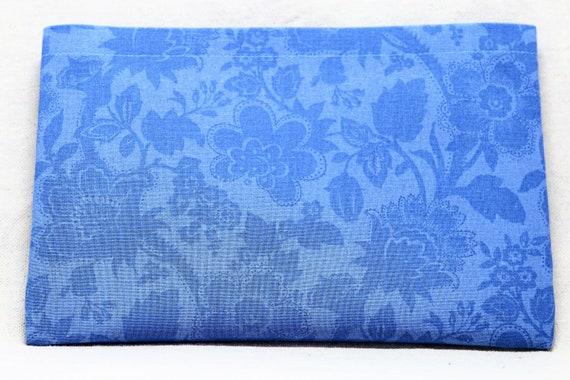 Blue Flowers Single Pocket Armrest Bag for Wheelchair, Walker or other Mobility Aides