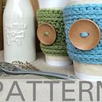 Crochet Cup Cozy Pattern // The Peek-A-Boo Cup Cozy