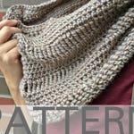 Crochet Cowl Pattern | The Sand Drift Cowl | Crochet Infinity Scarf Pattern