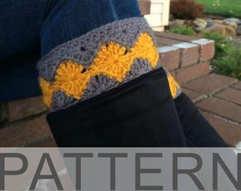Crochet Diamond Boot Cuffs