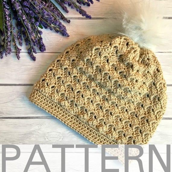 Crochet Hat Pattern The Kimberly Hat Crochet Hat For Women Etsy