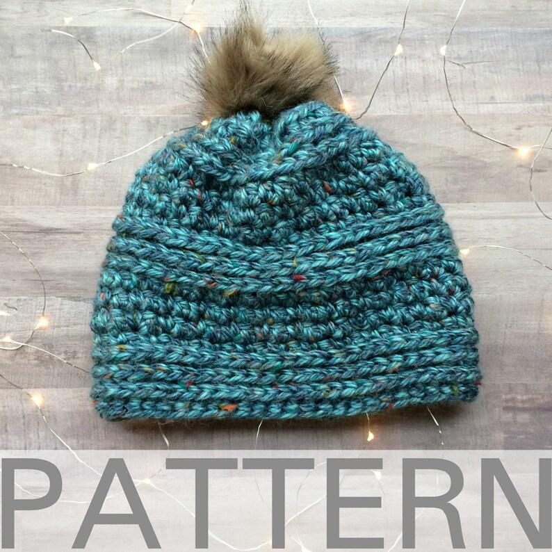 Crochet Hat Pattern Chunky Crochet Hat Chunky Peek A Boo Etsy