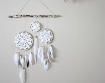 Dream Catcher Wall Hanging-Driftwood Wall Hanging-Dreamcatcher Set-Baby Room Wall Decor-Bohemian Wall Hanging-Boho Wall Hanging