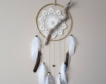 Large Driftwood Dreamcatcher-Modern Dream Catcher-Boho Decor-Dream Catcher Wall Hanging-Boho Wall Hanging-Livingroom Decor