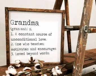 Grandma quote sign   Etsy