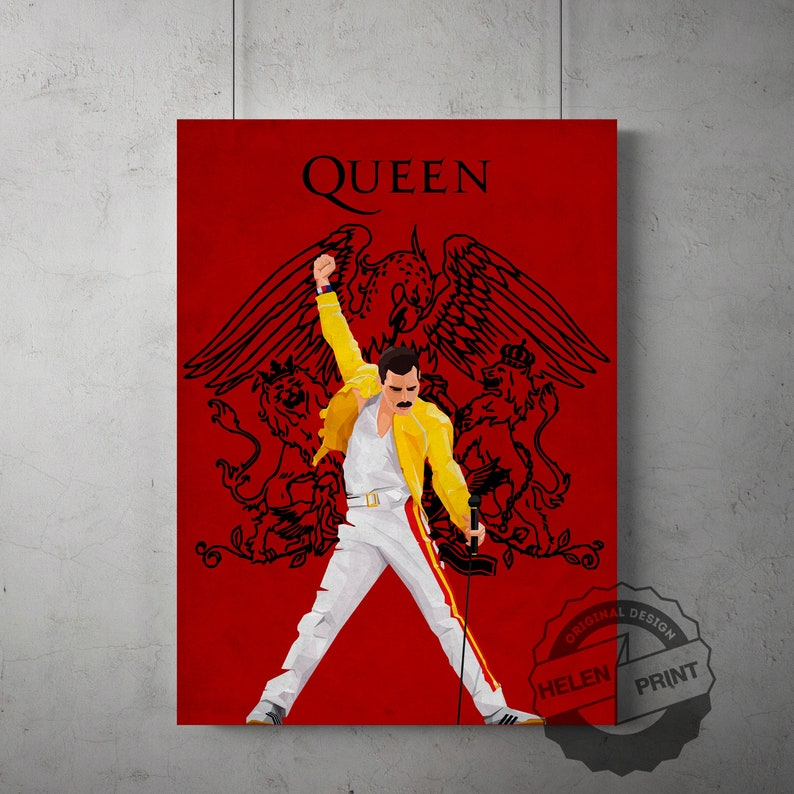 Art Poster 142 Bohemian Rhapsody Freddie Mercury Queen Rock Star