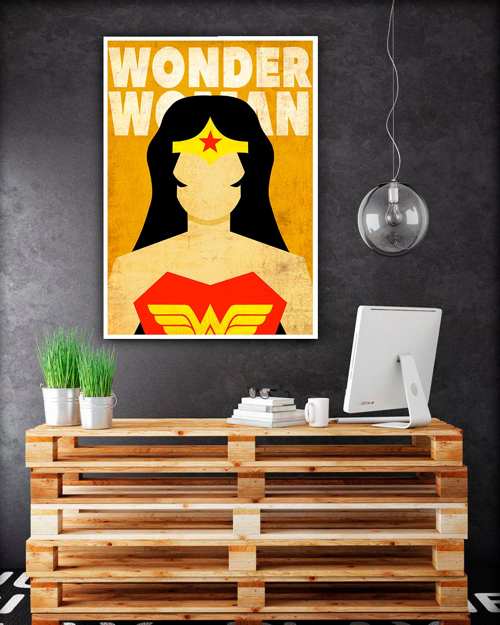 Wonder woman poster Superhero Posters Wonder Woman logo | Etsy