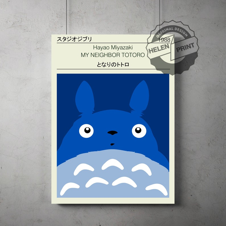 Hayao Miyazaki STUDIO GHIBLI ANIME Print A2 poster