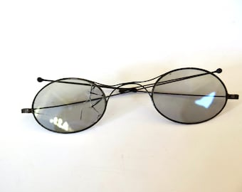 1646937b5faa Antique Victorian Sunglasses Oval Lens Wire Very Light Eyeglasses Antique Optical  Frames Oval Spectacles Edwardian Eyewear Steampunk Glasses
