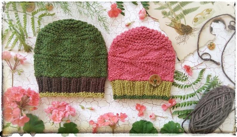 1277b0cdad2 Purl Vertical Chevron Hat Knitting Pattern PDF. Sizes for 3-6