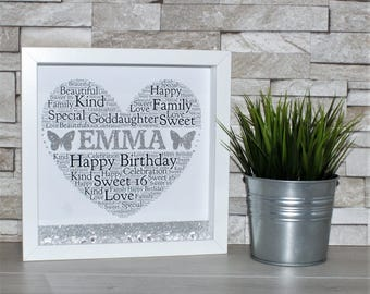 Birthday Box Frame Personalised Frame, Special Birthday Gift, 18th Birthday 21st, Birthday, 30th Birthday, 40th Birthday, 50th Birthday,
