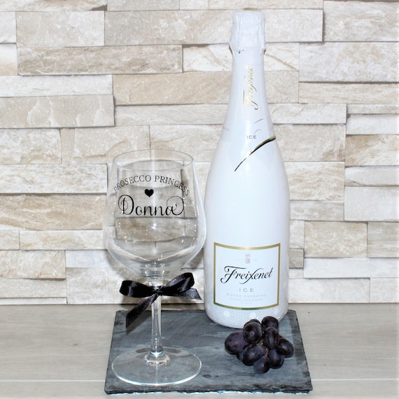 Personalised Wine Glass Prosecco Princess Gift Gifts Birthday For Lovers Quote
