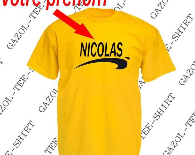 """Tee-shirt personnalisable fan de """"Brice de Nice."""". Humour cadeau personnalisé."""