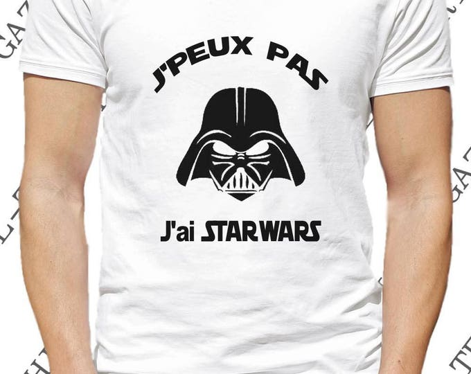 "Tee-shirt ""J' peux pas, STAR WARS."" T-shirt humour idée cadeau."