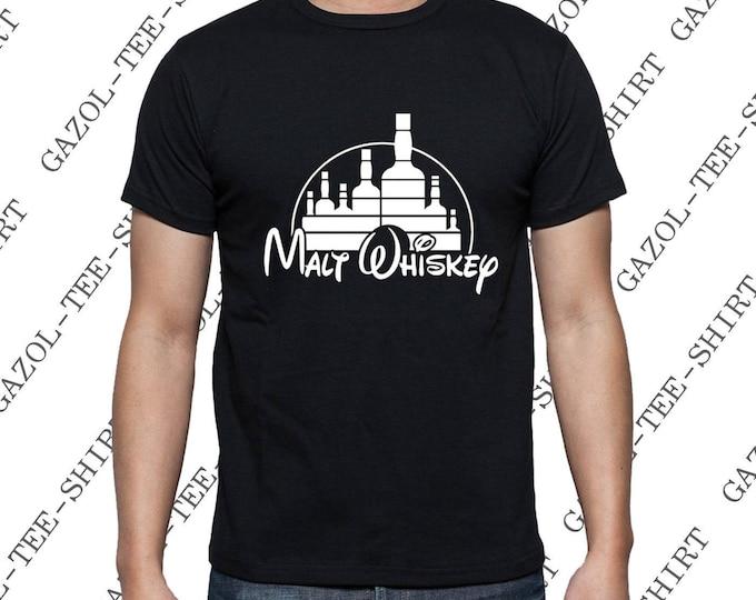 T-shirt Malt Wiskey. Tee shirt humoristique alcool, homme anniversaire noël amateur de bon whisky. Idée cadeau rigolo.