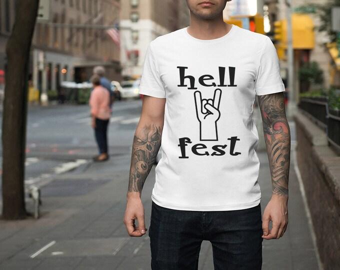 Tee-shirt hellfest. T-shirt festival 100% coton d'enfer.