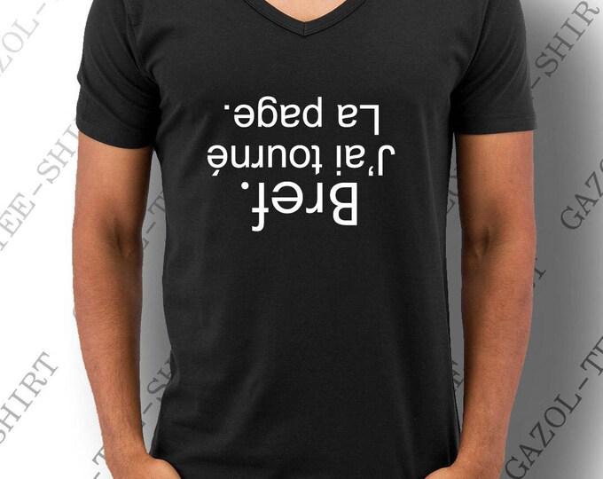 """Tee-shirt """"Bref. J'ai tourné la page."""" T-shirt homme 100% cadeau tendance."""
