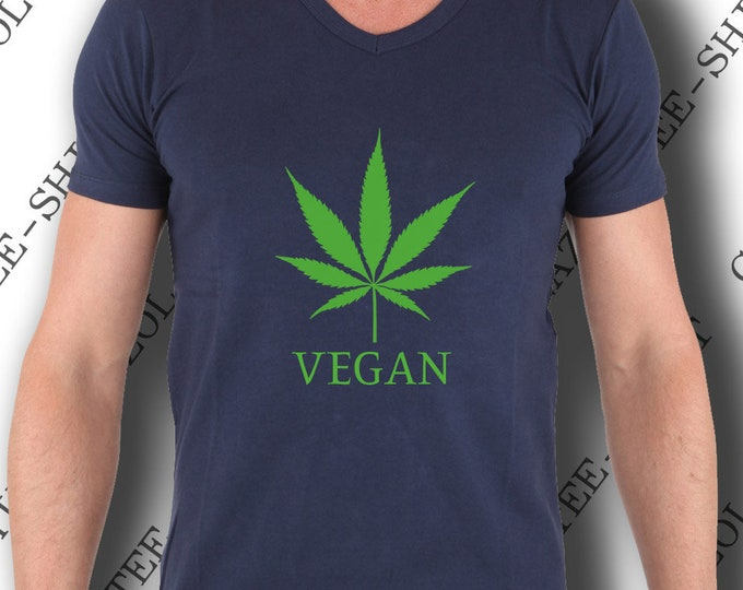 "Tee shirt weed homme. ""Tee-shirt VÉGAN feuille de chanvre."" Tee-shirt original & mode."