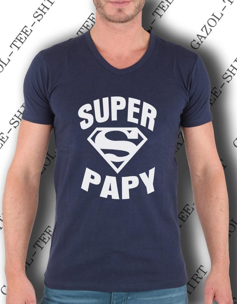 T-shirt homme  SUPER PAPY pur coton manche courte. image 0