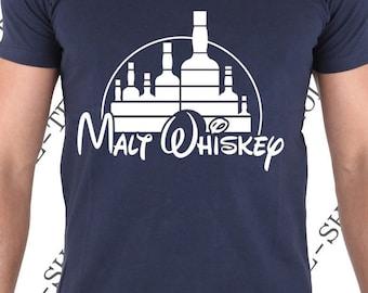 """T-shirt """"Malt Wiskey"""" Tee-shirt humour idée cadeau pour les amateurs de bourbon et d' excellent whisky."""