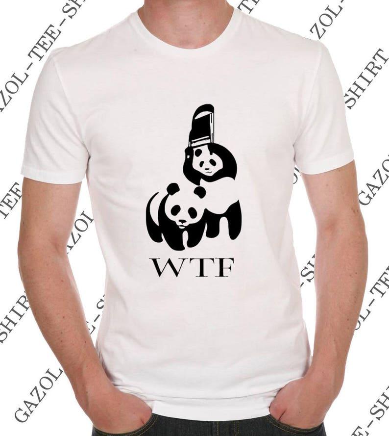Wwf Wtf Humor Hum Panda Parodia Ecology Camiseta rChsBoQxtd