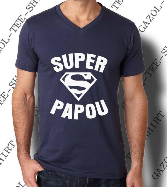 Idée cadeau fête des pères T-shirt Super