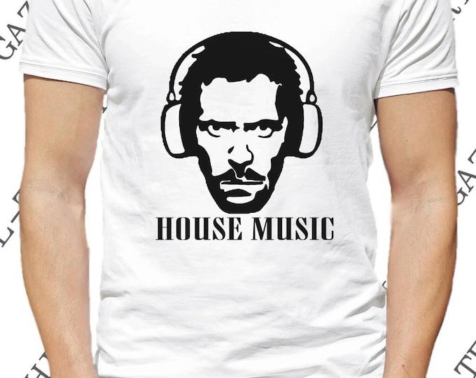 """Mode et vêtement humour. T-shirt  """"House music."""" DR house DJ tee-shirt."""