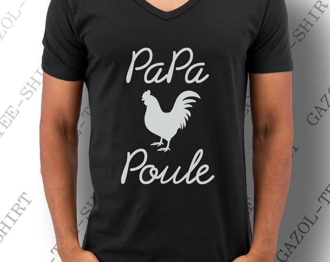 """""""Papa Poule.""""  Tee-shirt homme 100% coton."""