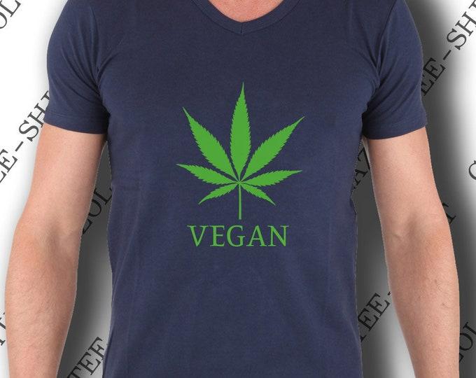 """Tee shirt weed homme. """"Tee-shirt VÉGAN feuille de chanvre."""" Tee-shirt original & mode."""