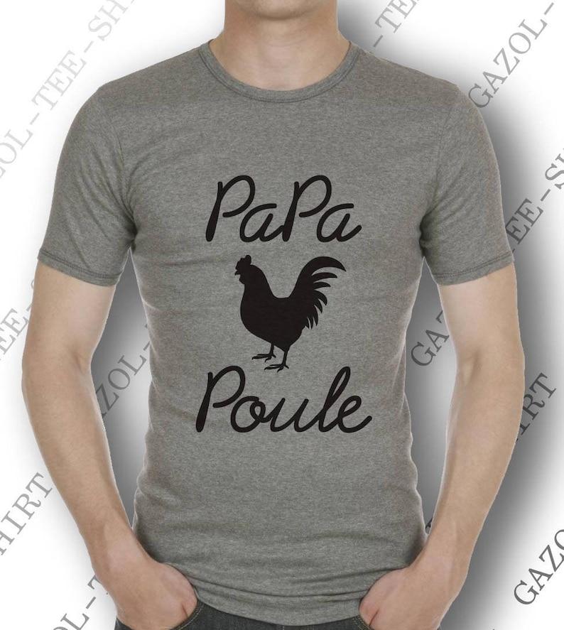 Cadeau à offrir à Papa Poule. Col rond ou V. image 0