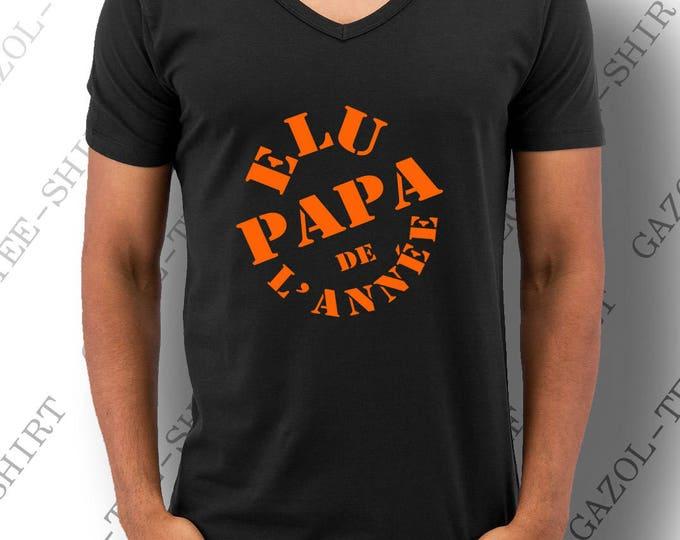 """T-shirt """"Élu papa de l'année."""""""