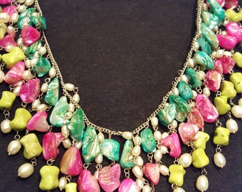 Semi precious multistoned necklace