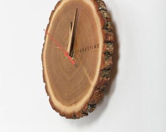 Wood slice clock, Farmhouse clock, Rustic wall clock, Wooden clock