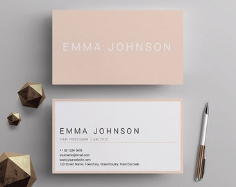 Business card template etsy professional business card template printable business cards premade business card design matching resume template mac and pc ms word cheaphphosting Image collections