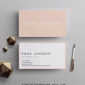 Business cards etsy professional business card template printable business cards premade business card design matching resume template mac and pc ms word colourmoves