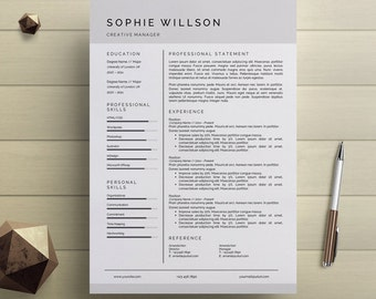 Creative Resume Template Creative Resume Design Resume Etsy