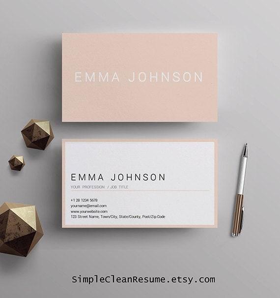 Professionelle Visitenkarten Vorlage Druckbare Visitenkarten Vorgefertigte Visitenkarten Design Passende Lebenslauf Vorlage Mac Und Pc Frau Word