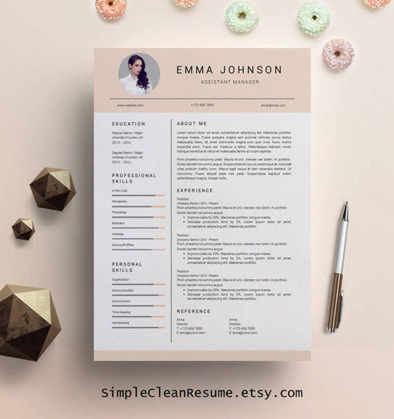 Creative Resume Template For Mac And PC Cover Letter Design