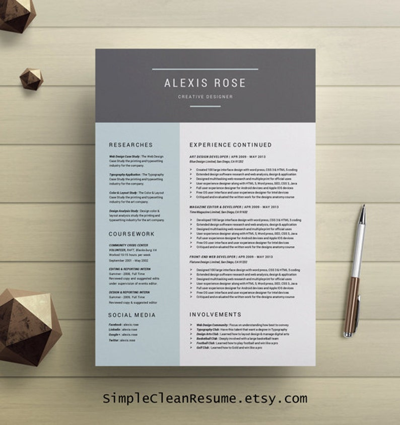 cv template professional resume template cover letter for
