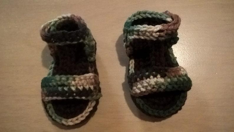 Baby Boy Camo Sandals