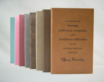 Personalized Leatherette Journal/Diary