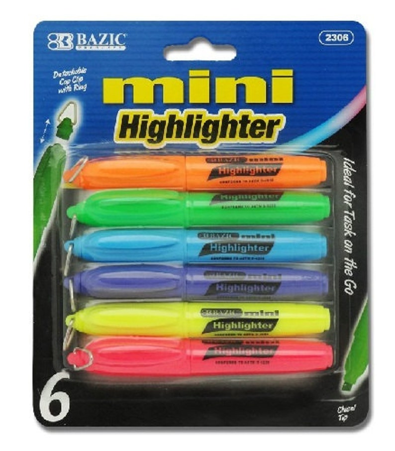 4 PCS Highlighter Pens Double-headed Multifunctional Pen included Roller Ball Pen and Highlighter 4 Colors