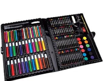 ArtyFacts Portable Art Studio Deluxe Kit, 120pc
