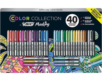 BIC Color Collection Marking, Assorted - 40 Count