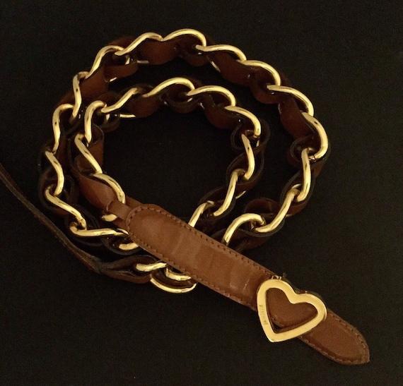 Vintage MOSCHINO belt, Redwall belt, Vintage Redwa