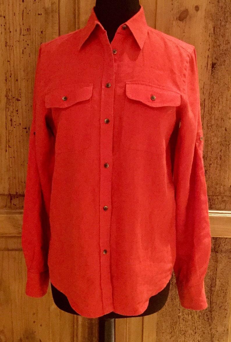 9483967b1 Vintage Ralph Lauren Linen Safari Blouse