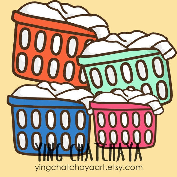 laundry basket clipart laundry basket clip art basket etsy rh etsy com clipart washing basket clipart of laundry baskets