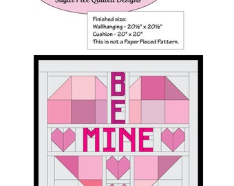 Valentine's Quilted Wallhanging or Cushion