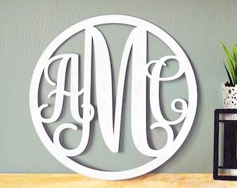 Wooden Monogram - Unpainted Wood Monogram - Wooden Letters - Large Wood Monogram - Nursery Monogram - Wooden Wall Sign