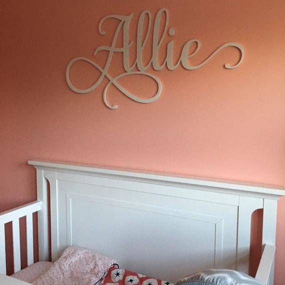 Bébé personnalisé nom Plaque, décoration murale de chambre d\'enfant ...